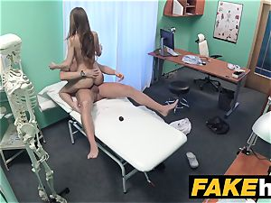 fake clinic Patient gives blowjob before being pounded