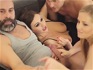 LOS CONSOLADORES - steamy swinger 4 way with red-hot honies