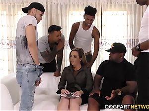 Carmen Valentina multiracial gang-bang