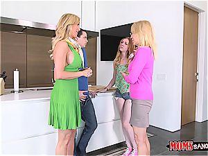 mischievous milf humping her daughter's bf