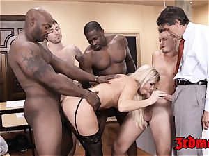 teacher India Summer fed jizm after IR gang-bang