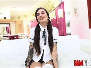 Bamvisions tatted teen Luna super-cute