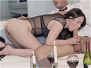 Seduced by a sexy dark haired female