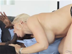 hungry wife Sarah Vandella gets her appetite suppressed by big black cock