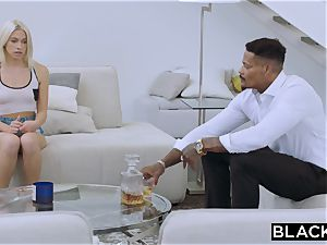 BLACKED blondie school chick PUNSIHED by bbc
