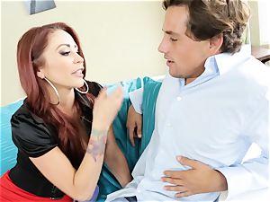redhead milf Monique Alexander plows a snooping toyboy
