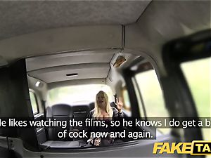 faux taxi muddy stiffy liking blonde with excellent breasts