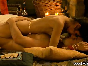 Exotic couple investigate Indian lovemaking