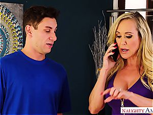 Brandi love drills the delivery man