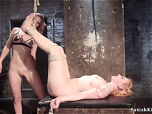 g/g rock-hard bootie caned and penetrated