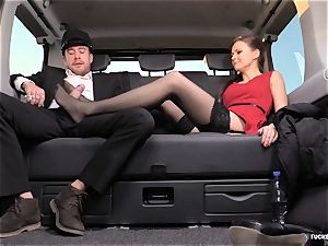 nailed IN TRAFFIC - brit Tina Kay plumbed in the car