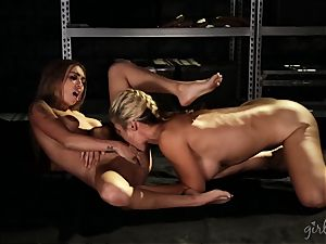 wild lezzy joy with Sarah Vandella and Kat Dior