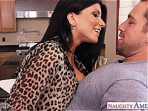 nasty Romi Rain takes his member deep inwards her