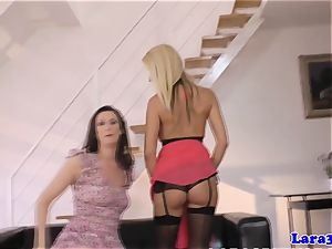 Mature brit lesbian finger-tickled and played