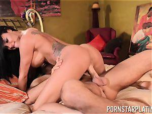 huge-titted super-bitch Peta Jensen luvs rock-hard hookup with her hottest mate