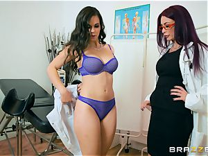 Monique Alexander and Nekane minge lick at the health center