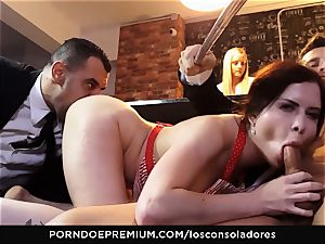 LOS CONSOLADORES - Cassie Fire intense duo fourway