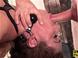 redhead british slave booty-fucked and strapped