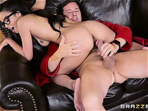 Maya Bijou feasting on a ample penis