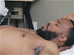 multiracial porn with super-hot ultra-cute blondie Zoey Monroe and dark-hued man