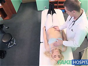 faux polyclinic bashful patient with wetting moist pussy squirt