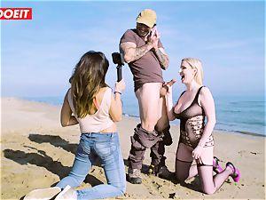 LETSDOEIT - blond Thot porked rock-hard By the Beach