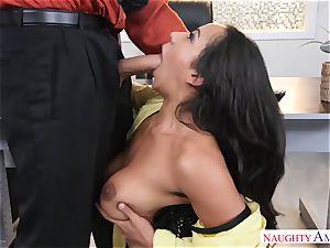Office breezy Priya Price with yam-sized melons likes hard boners