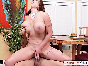 chesty dark haired Eva Notty gets pummeled