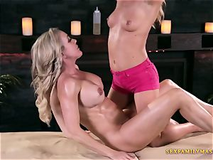 Carter Cruise and Brandi enjoy in lezzy porn