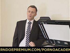 porno ACADEMIE - Curly schoolgirl hard-core instruct sequence