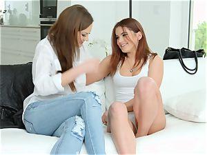 Evelina Darling and gorgeous Tina Kay enjoying each other on g/g Erotica