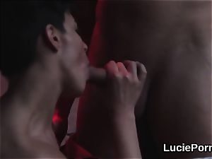 unexperienced girly-girl women get their gentle slits slurped and porked