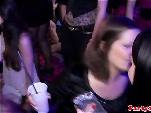soiree fledgling cocksucking on the dancefloor