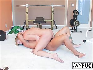 big-boobed Avy Scott gets a boinking with her exercise routine