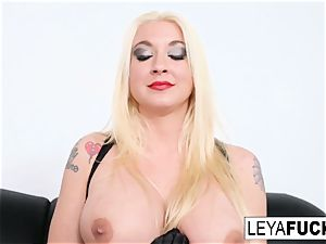 warm ample tittie towheaded Leya gets her booty ravaged