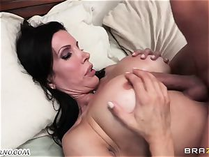 son-in-law witnesses as his daddy romps his mature domme with meaty udders