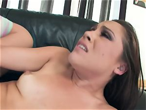 muddy Kristina Rose enjoys to stretch her cheecks wide for a yam-sized man sausage pounding