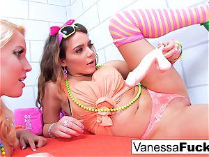 big-titted Natasha cute pummels Vanessa cage